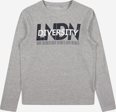NAME IT Shirt 'Vux' in graumeliert / schwarz / weiß, Produktansicht