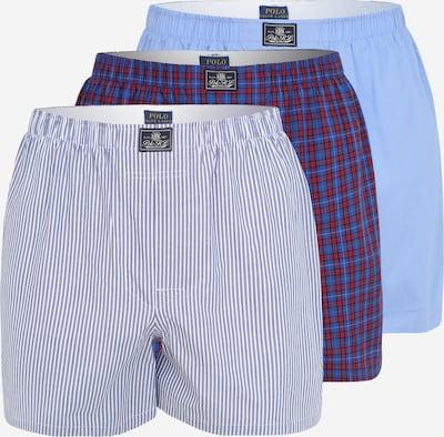 Boxer POLO RALPH LAUREN di colore blu chiaro / blu scuro / rosso / bianco, Visualizzazione prodotti