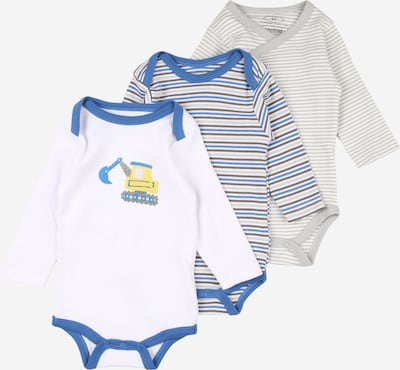 PLAYSHOES Romper/bodysuit in Blue / Dark brown / Yellow / Light grey / White, Item view