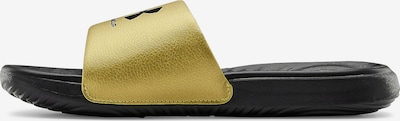 UNDER ARMOUR Beach & Pool Shoes in Gold / Black, Item view