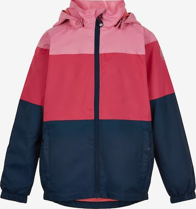 COLOR KIDS Outdoorjacke in dunkelblau / pink / pitaya, Produktansicht