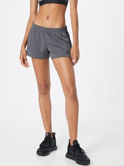Pantaloni sport 'PACER' ADIDAS PERFORMANCE pe gri închis / negru, Vizualizare model