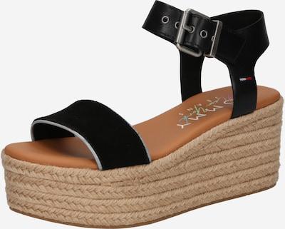 Sandale cu baretă Tommy Jeans pe negru, Vizualizare produs