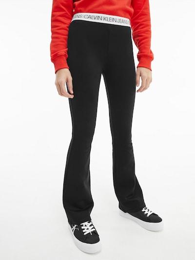 Calvin Klein Jeans Hose in schwarz / weiß: Frontalansicht