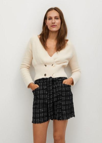 MANGO Kalhoty 'Elle' - černá, Model/ka