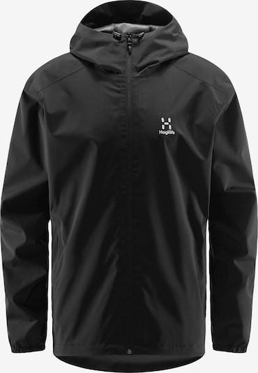 Haglöfs Outdoorjacke 'Buteo' in schwarz / weiß, Produktansicht