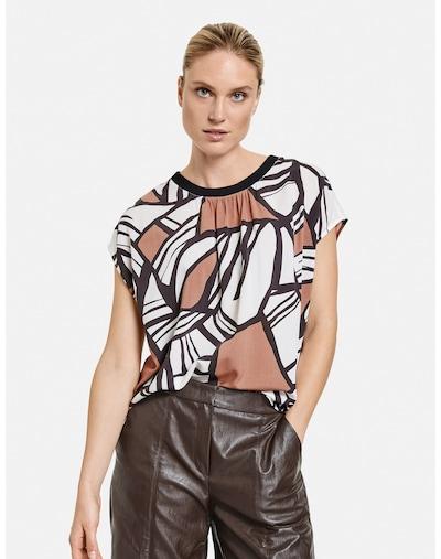 TAIFUN Bluse in braun / schwarz / weiß, Modelansicht