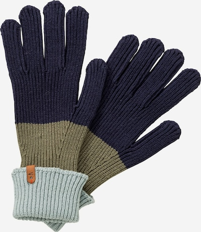 CAMEL ACTIVE Strickhandschuhe in türkis / dunkelblau / grün, Produktansicht