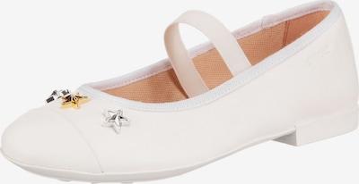 GEOX Ballerina 'Plie' in gold / silber / weiß, Produktansicht