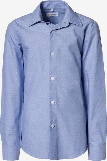 WEISE Hemd in rauchblau / weiß, Produktansicht