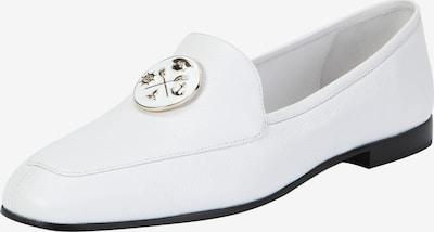 Ekonika Loafer aus hochwertigem Leder in weiß: Frontalansicht
