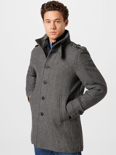 SELECTED HOMME Mantel 'NOAH' in grau / schwarz, Modelansicht