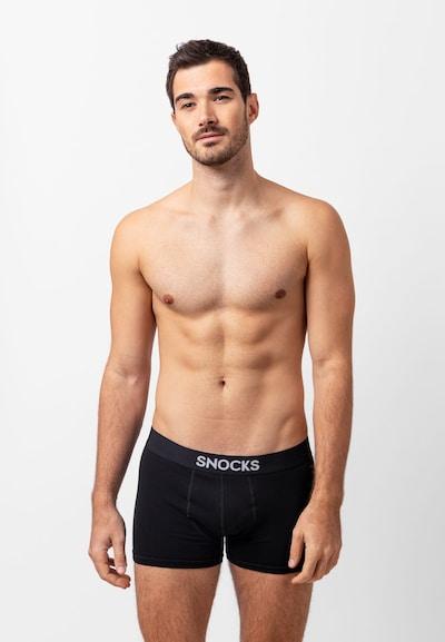 SNOCKS Boxershorts in grau / schwarz / weiß, Modelansicht