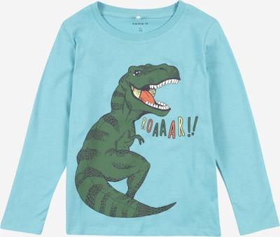 NAME IT T-Shirt 'Dirgo' en bleu clair / vert / blanc, Vue avec produit
