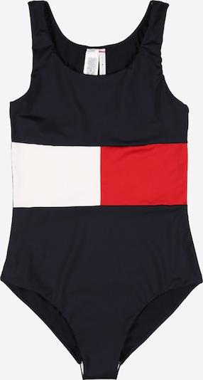 TOMMY HILFIGER Badeanzug 'ONE-PIECE' in dunkelblau / rot / weiß, Produktansicht