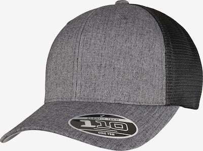 Flexfit Cap in graumeliert / schwarz, Produktansicht