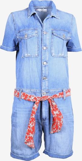 Le Temps Des Cerises Overall ADAMS in kurzer Jeans-Optik in blau, Produktansicht