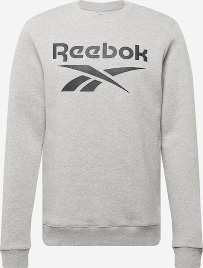 Reebok Sport Sweater majica u siva melange / crna, Pregled proizvoda