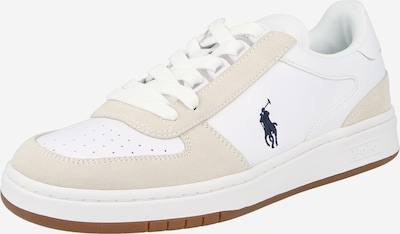 POLO RALPH LAUREN Sneaker 'POLO CRT PP-SNEAKERS-ATHLETIC SHOE' in beige / navy / weiß, Produktansicht