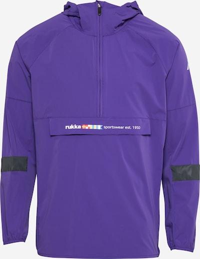 Rukka Veste de sport 'RIHU' en violet foncé / noir / blanc, Vue avec produit