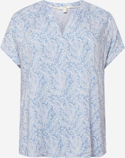 ESPRIT Blouse in de kleur Lichtblauw / Wit, Productweergave