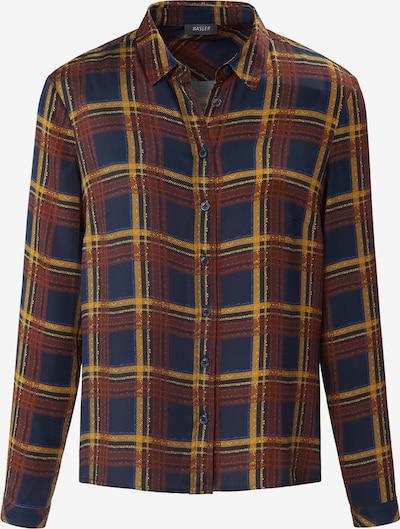 Basler Bluse in blau / braun / gelb, Produktansicht