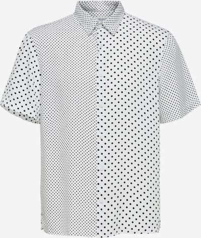 SELECTED HOMME Kurzarmhemd in hellgrau / weiß, Produktansicht