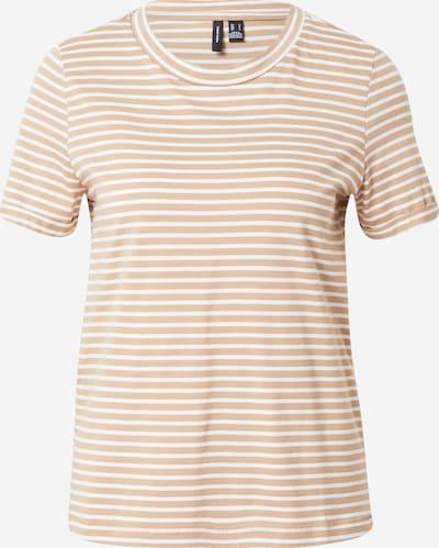 VERO MODA Camiseta 'PAULA' en beige claro / blanco, Vista del producto