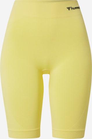 Hummel Workout Pants 'Ci' in Yellow