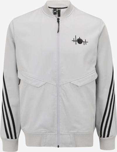 ADIDAS PERFORMANCE Sportsweatjacke  ' 007 BAD' in hellgrau / schwarz, Produktansicht