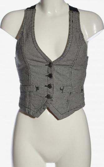 Fishbone Anzugweste in S in schwarz / weiß, Produktansicht