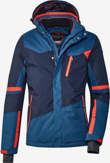 KILLTEC Skijacke ' Savognin ' in blau / dunkelblau / orange, Produktansicht