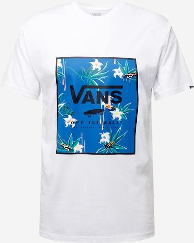 VANS Тениска в небесносиньо / тревнозелено / оранжево / черно / бяло: Изглед отпред