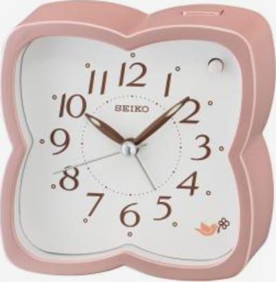 SEIKO Wecker in rosa / weiß, Produktansicht
