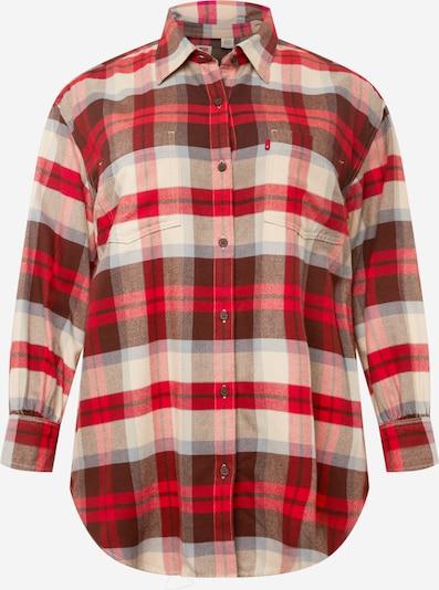 Levi's® Plus Blusa 'REMI' en beige / rojo / rojo oscuro, Vista del producto