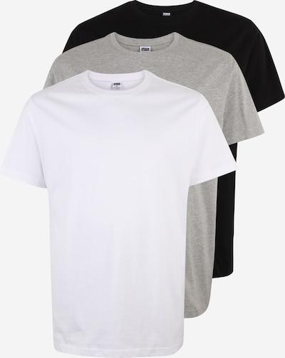 Urban Classics Big & Tall Majica u siva melange / crna / bijela, Pregled proizvoda