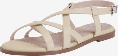 Ekonika Sommerliche Sandalen mit Riemchen in hellgelb: Frontalansicht