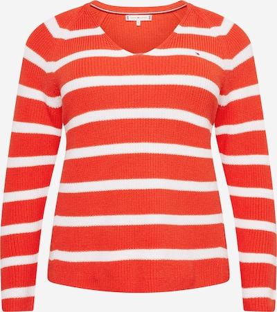 Tommy Hilfiger Curve Pulover 'HAYANA' | rdeča / bela barva, Prikaz izdelka