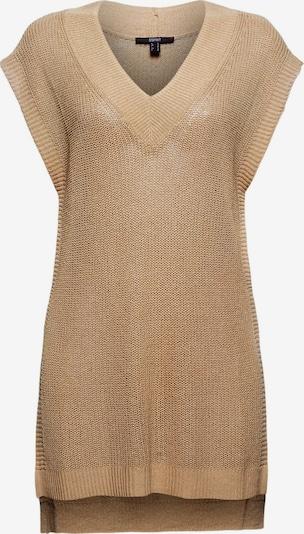 Esprit Collection Gebreide bodywarmer in de kleur Sand, Productweergave