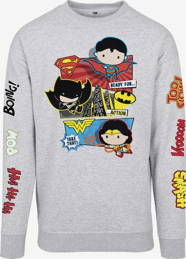 Mister Tee Sweatshirt 'Justice League Tuti' in hellblau / gelb / grau / rot / schwarz, Produktansicht