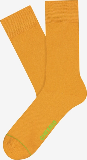 CHEERIO* Socken 'Best  Friend' in gelb, Produktansicht