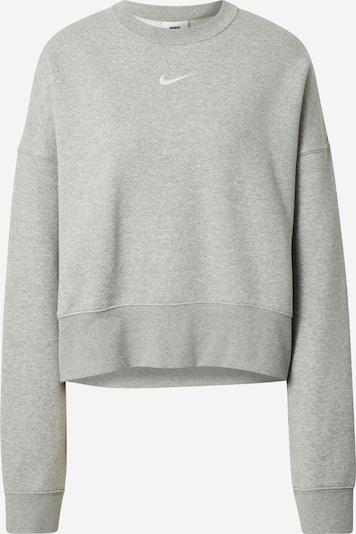 Nike Sportswear Mikina - světle šedá / bílá, Produkt