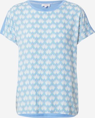 s.Oliver Тениска в светлосиньо / жълто / светлозелено / бяло: Изглед отпред