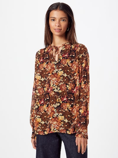 MORE & MORE Blouse in Brown / Yellow / Red / Black, View model