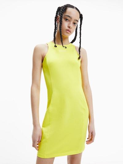 Calvin Klein Jeans Kleid in neongelb / weiß, Modelansicht