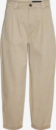 Noisy may Plisované nohavice 'LOU' - béžová: Pohľad spredu