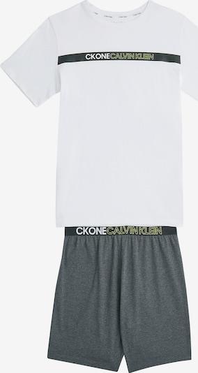 Calvin Klein Underwear Nachtkledij in de kleur Grijs / Wit, Productweergave