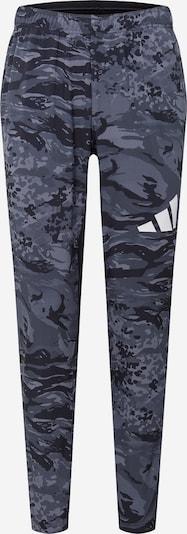 ADIDAS PERFORMANCE Sporthose in grau / dunkelgrau / schwarz / weiß, Produktansicht