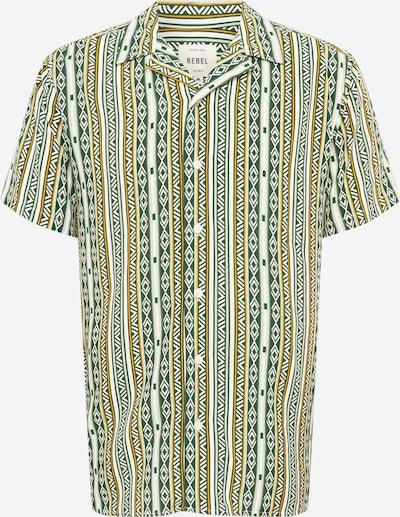 Redefined Rebel Hemd 'Joe' in gelb / dunkelgrün / weiß, Produktansicht