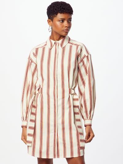 Ted Baker Kleid 'Kaate' in nude / orangerot / dunkelrot, Modelansicht